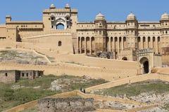 Amber Fort près de Jaipur au Ràjasthàn, Inde Amber Fort est le mA Photographie stock libre de droits