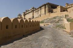 Amber Fort près de Jaipur au Ràjasthàn, Inde Amber Fort est le mA Photo stock