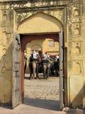 Amber Fort, Rajasthán 02 Imágenes de archivo libres de regalías