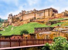 Amber Fort, Rajasthan, India. India, Rajasthan, panoramic view of  Amber Fort near Jaipur Royalty Free Stock Images