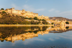 Amber Fort and the reflection Royalty Free Stock Photo