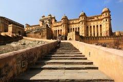 Amber Fort slott, stjärnor, Jaipur Arkivfoton