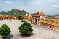 Amber Fort square Royalty Free Stock Images