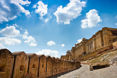 Amber Fort on a sunny day, Jaipur, Rajasthan, India Stock Images