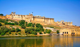 Amber fort. View in Jaipur, India Stock Image