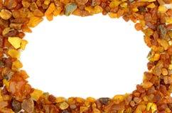 Amber frame Stock Photo