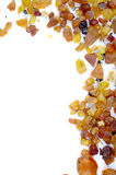 Amber frame Stock Image