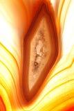 Amber gekleurd agaat Stock Afbeelding