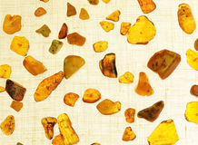 Amber gem yellow stone Stock Images