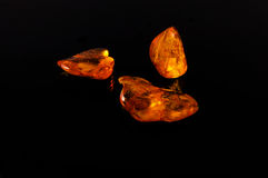 Amber gemstone Stock Images