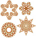 Amber glass beads design elements Stock Images