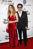 Amber Heard and Johnny Depp Royalty Free Stock Photography