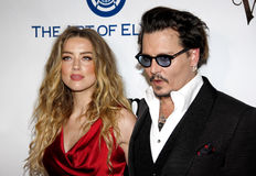 Amber Heard and Johnny Depp Stock Photo