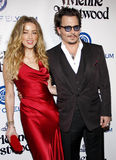 Amber Heard and Johnny Depp Stock Photos
