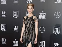 Amber Heard. At the World premiere of `Justice League` held at the Dolby Theatre in Hollywood, USA on November 13, 2017 Royalty Free Stock Image
