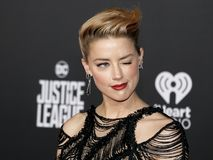 Amber Heard. At the World premiere of `Justice League` held at the Dolby Theatre in Hollywood, USA on November 13, 2017 Royalty Free Stock Photos