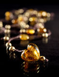Amber heart Royalty Free Stock Photography