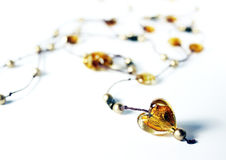 Amber Heart Royalty Free Stock Images