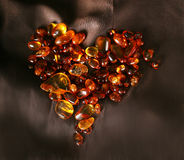 Amber heart Royalty Free Stock Photos