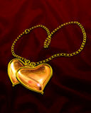 Amber Hearts Stock Photography