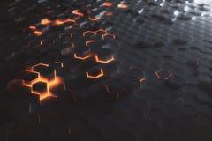 Amber hexagon wallpaper Stock Photography
