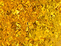 Amber iridescent reflections golden abstract background illustration Stock Photos