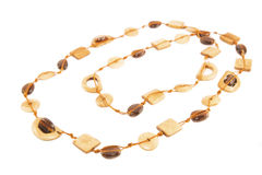 Amber and ivory necklace Royalty Free Stock Image