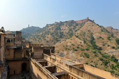 Amber and Jaigarh Fort, Jaipur Stock Photos