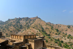 Amber and Jaigarh Fort, Jaipur Royalty Free Stock Photo