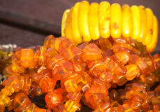 Amber jewelry Stock Photography