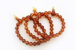 Amber Jewelry Bracelets. Three small amber jewelry bracelets Stock Image