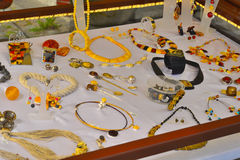 Amber jewelry Royalty Free Stock Photos