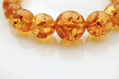 Amber Jewelry Necklace. Gemstone necklace with large beads Royalty Free Stock Images