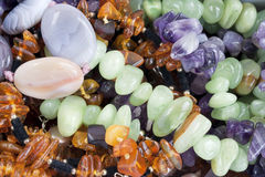Amber, malachite, turquoise, disgraces Royalty Free Stock Image