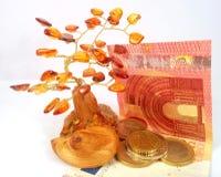 Amber money tree Royalty Free Stock Photos