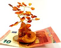 Amber money tree Stock Image