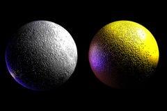 amber moon bliźniak równiny Obraz Stock