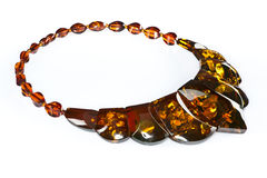 Amber necklace Royalty Free Stock Images