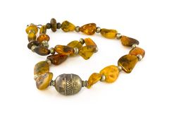 A amber necklace Royalty Free Stock Photography
