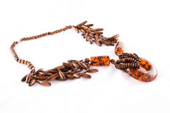 Amber necklace Royalty Free Stock Photo
