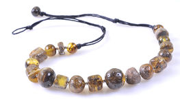 Amber necklace Stock Photo