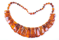 Amber necklace Stock Photos