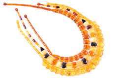 Amber necklace Royalty Free Stock Image