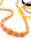 Amber necklace and bracelets Royalty Free Stock Photography