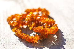 Amber necklace Royalty Free Stock Photos