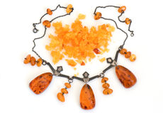 Amber necklace figural dancers from Russia Stock Photography