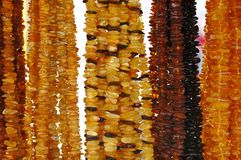 Amber Necklaces Royalty Free Stock Photography