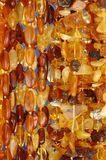 Amber Necklaces Royalty Free Stock Images