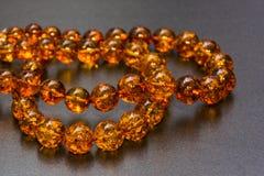 Amber Necklaces In Close herauf Ansicht, lizenzfreies stockfoto