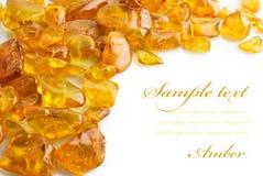 Amber On White Stock Photos